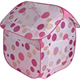 Large Pink Pop up ball pit tent which converts in seconds to an optional house