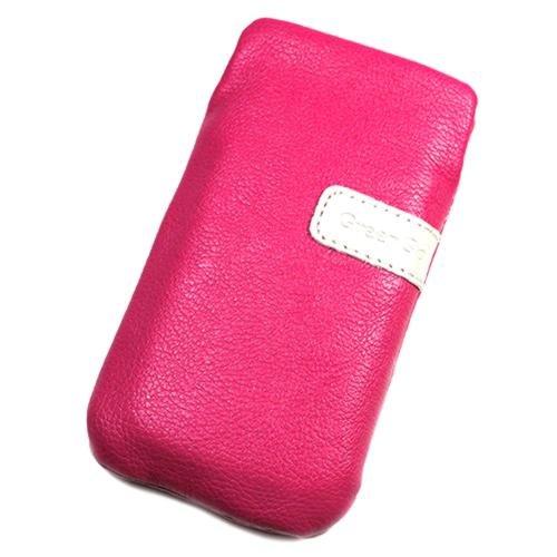 Schutzhülle, Weise Leder Rosa L für LG 8575Samba