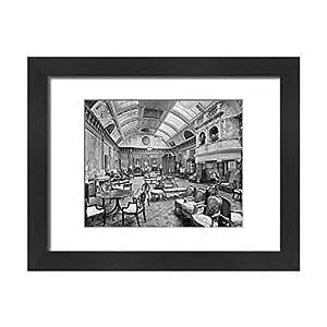 Framed 16x12 Print of Edwardian music room, Thornton Manor BL17551 (1915131)