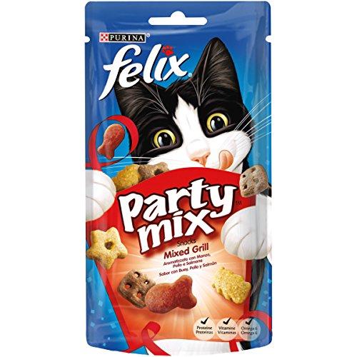 Purina FELIX Party Mix Grill 8 paquetes de 60 gr - Total: 480 gr