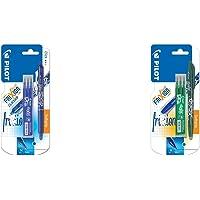 Pilot - Blister FriXion Ball Clicker 0.7 - Roller effaçable - Bleu + 1 set de 3 recharges - Pointe moyenne & Blister…