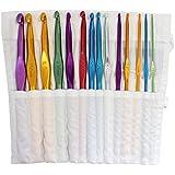 Ensemble de 14 crochets de 2mm à 10mm vendus dans une pochette en coton par Curtzy TM