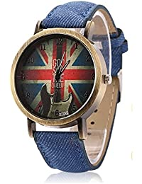 New Designer Analog Watch With Blue Jean Strap