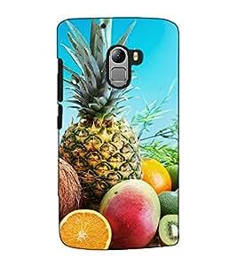 Fuson Designer Back Case Cover for Lenovo Vibe K4 Note :: Lenovo K4 Note A7010a48 :: Lenovo Vibe K4 Note A7010 (The fruits theme)