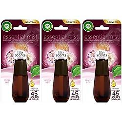 Air Wick Desodorisant Essential Mist Recharge Délices d'Eté - Lot de 3