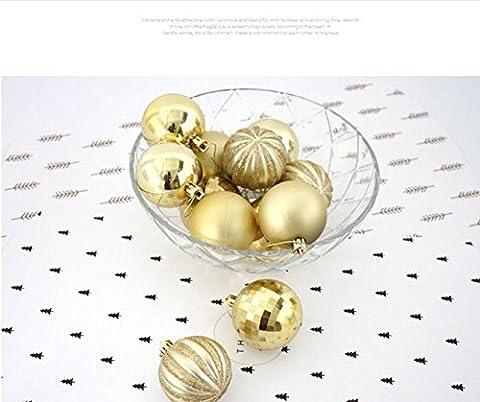 Lot de–12pièces Lovely Thème Peinture incassable boules de Noël Bling Plaqué Balles corations Différentes Finitions. Arbre Pendentifs Onaments Idéal pour arbre de Noël, Nouvel An, décoration de fête d'anniversaire de mariage
