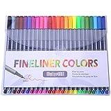 Mylifeunit fineliner, 0.4mm punto micro penne un disegno penne, 24colori assortiti