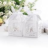 Musuntas 50Tlg.Vogelkäfig-Entwurf Hochzeit Taufe Gastgeschenk Geschenkbox Kartonage Schachtel Tischdeko Bonboniere