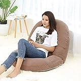 KJRJSF Silla Plegable Ajustable del sofá de la Silla del sofá de Las Camas del sofá del Piso Perezoso con la Almohada (Color : Brown)