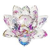 Sumnacon Fleur de Lotus Cristal - Pour la Décoration dans la Maison, idéal Cadeau pour anniversaire, les fêtes(100mm)