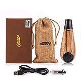 Kamry elektronische Zigarette Turbo Mini Body Fashion Style, 35W 1000mAh nachladbare riesige Dampf-Hölzerne Klassische E-Rohr mit Geschenk-Paket (Gelb)