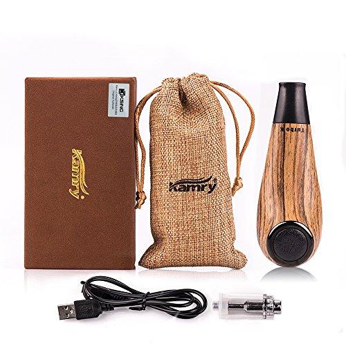 Kamry elektronische Zigarette Turbo Mini Body Fashion Style, 35W 1000mAh nachladbare riesige Dampf-hölzerne klassische E-Rohr mit Geschenk-Paket (Gelb) (Mod Rohr Vape)
