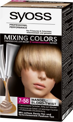 syoss mixing colors crme colorante 7 58 blond amande - Syoss Coloration Prix