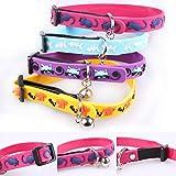 NK store Einstellbare personalisierte gravierten Silikon Hunde Halsband mit einer kleinen Glocke --- geeignet mit Hunden und Katzen.(1pack=4pcs)