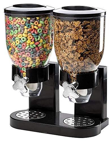 Bianco Dispenser Doppio per cibi secchi e Cereali Fresh /& Easy