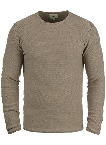 Redefined Rebel Mace Herren Strickpullover Feinstrick Pullover Mit Rundhals Aus 100% Baumwolle, Größe:XXL, Farbe:Faded Brown