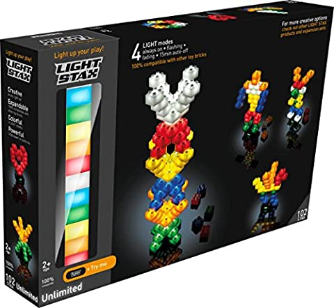 Lightstax Starter Set with 102 LED Bricks and USB Smart Base