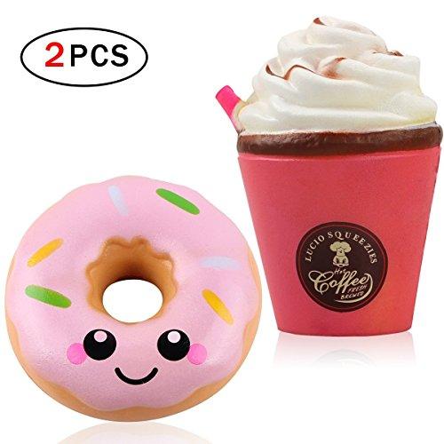 hilai newin, Kaffee-Tasse Donut, Kawaii-Spielzeug, für Kinder und Erwachsene