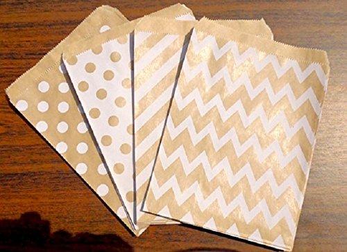 kraft-borsa-chevron-zebrato-puntini-13x18cm-per-compleanno-matrimonio