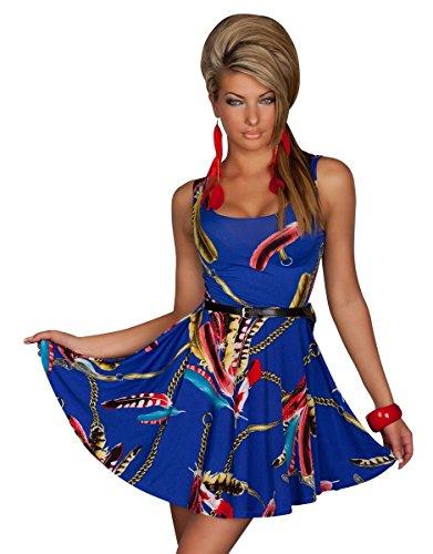 Fashion4Young - Robe - Femme bleu foncé