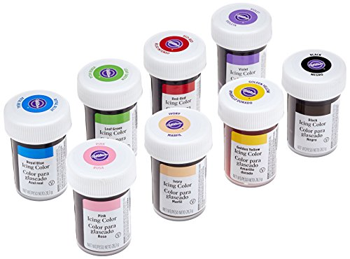 Wilton Icing Color Kit 8 x 28.3 g, 1er Pack (1 x 226.4 g) (Lebensmittelfarbe Set)