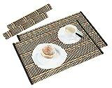 Platzset Tischset Unterlage aus Bambus 2er Set 44,5 x 30 cm hellbraun und dunkelbraun modernes Accessoire für Ihren Esstisch