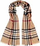 FRAAS Damen-Schal XXL kariert - Made in Germany - eleganter Decken-Schal mit Karo-Muster - kariertes Plaid für Frauen - stilvoller Winter-Schal Camel