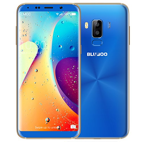 BLUBOO S8 Sim-Free Smartphone, Dual Sim, 5.7-Inch Full-View Display Android Mobile Phone, 3GB RAM+32GB ROM - Azul