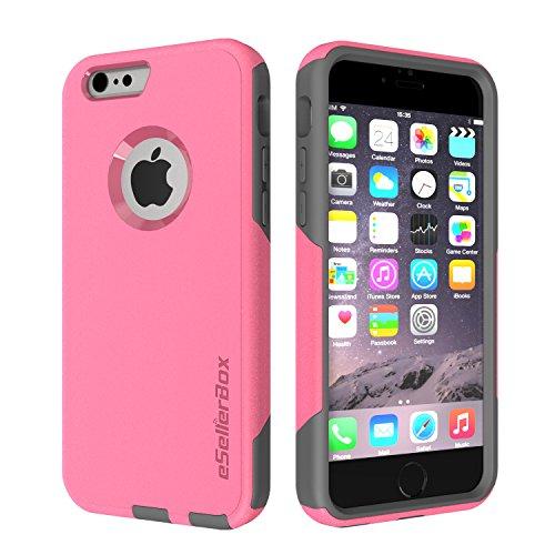 eSellerbox® Coque rigide pour iPhone 6/6S Protection antichocs et antirayures des chutes et des chocs durable Emballage de vente Pink&Gray