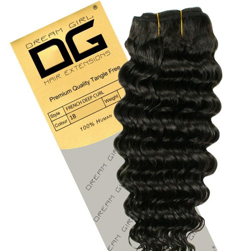 Dream Girl Extensions de cheveux frisés Couleur n°1B 40,6 cm