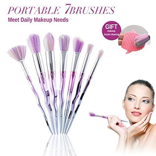 Pinceaux Makeup Brushes Maquillage Brosse Kit 7 Pièces Ensemble Cosmétique Produit de Beauté Outils Professional Fondation Mélange