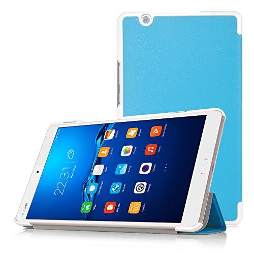 Huawei MediaPad M3 8.4 Hülle, IVSO Ultra Schlank Superleicht Ständer Slim Leder zubehör Schutzhülle für Huawei MediaPad M3 8.4 Tablet-PC perfekt geeignet (Für Huawei MediaPad M3 8.4, Blau)