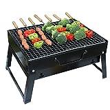 LUXJET Barbacoa de Carbón Portátil con Parrillas y Pies Plegables para BBQ, Picnic, Acampadas,...