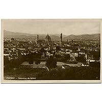 Primi '900 Firenze Panorama Boboli Cattedrale Cupola Città Campanile FP B/N Cartolina Postale