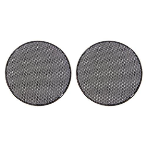 SimpleLife 1/2/3/4/5/6,5 Zoll Lautsprecher Grills Cover Case Round Grill Schutz Lautsprecher dekorativen Kreis Audio Zubehör-ABS, schwarz Stahl-audio