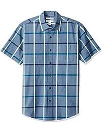 Amazon Essentials Herren Regular-Fit Short-Sleeve Stripe Shirt