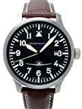 Aristo Herren Messerschmitt Uhr Fliegeruhr ME108-42B Leder