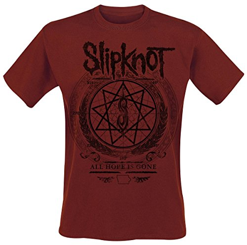 Slipknot Blurry T-Shirt rosso scuro XXL