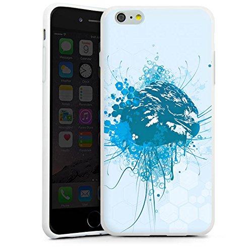 Apple iPhone X Silikon Hülle Case Schutzhülle Adler Greif Vogel Silikon Case weiß