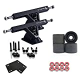 """Maxfind Major Upgrade Longboard Skateboard Package Combo with 7"""" Trucks, 70mm 80A Wheels, Complete Set of Bearings and Steel Hardware"""