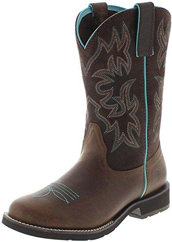 Ariat Damen Westernreitstiefel 21457 Delilah Braun Damenstiefel, Groesse:38.5 (5.5 UK) - Distressed Braun Cowboy Stiefel