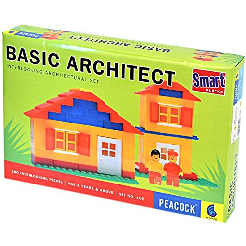 Hickoo Peacock Basic Architect Interlocking Architectural Set  available at amazon for Rs.243