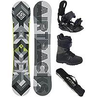 Snowboard Komplett Set / AIRTRACKS Cubo Wide + Snowboard Bindung Star + Snowboardboots + Sb Bag / 159 161 165 168 171 cm