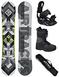 AIRTRACKS Snowboard Set / Board Cubo Wide 161 + Snowboard Bindung Star + Boots Star Grey 43 + Sb Bag