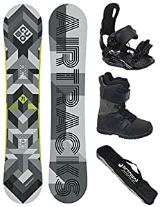 AIRTRACKS Snowboard Set / Board Cubo Wide 165 + Snowboard Bindung Star + Boots Star Black 40 + Sb Bag