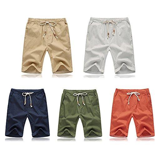 iShine pantaloncini uomo Pantaloncini da corto di nuoto degli uomini pantaloni rapidi-asciugatura pantaloni di spiaggia pantaloncini sportivi di grandi dimensioni Cachi