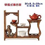 GWDecor Jahrgang Rotes Holz Regal Chinesisch Traditionelle Handarbeit Geschnitzt Wenge Retro Möbel Creative Home Dekor Schmuck Antik Storage Seite Vase Form