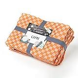Lumaland Geschirrtücher Capri Serie in zehn Farben 10 Stück pro Set 100% Baumwolle 46 x 70 cm Pfirsich - Weiß