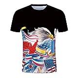 TIFIY Herren Graphics 3D Druck Shirt Kurzarm T-Shirt Hipster Lässige Streetwear Grund Bluse Gym Fitness Tops