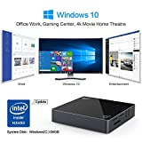 Windows 10 Mini PC - Bqeel BMP5 PRO lautloser Mini Computer, Intel Apollo Lake N3450 Prozessor, 4GB Ram + 64GB Rom, 1000M Ethernet, Dual-Band WiFi, Bluetooth 4.0 und HDMI & VGA-Videoausgang (4K) - 3